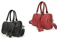 Elegant Lady Fashion Women's Handbag PU Leather Single Shoulder Bag Red Black