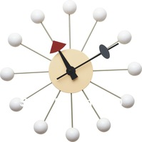 1 piece white color George Nelson wooden ball Wall  Clock