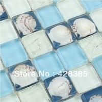 FREE SHIPPING Stone Glass Mosaic Tiles, bathroom mosaic tiles, Mediterranean style tiles, Kitchen Backsplash, Wall Background