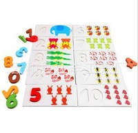 baby safe wooden math toys arly Childhood Educational enlightenment count flash card for children yz1089