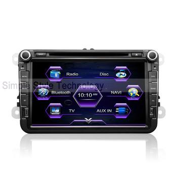 VW Passat B5 Car DVD Player, built-in GPS Navigation,2 din 8 inch car DVD.Free shipping