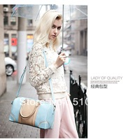 """DU DU ""New arrive Women's  genuine leather elegant leather bag /intellectuality colorant matching handbag/ messenger bag"