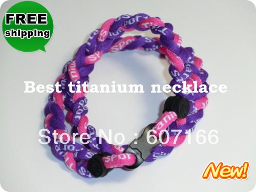 tornado germanium ion sports balance braided baseball necklace(China (Mainland))