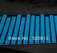 114*30CM  Blue  EL light flashing/Sound Activated Car Stickers/EL light car/window/wall stickers flashing car light