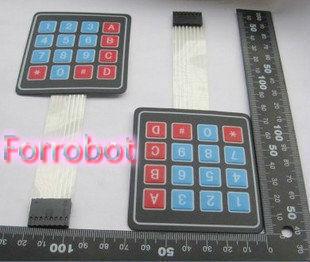 10pcs 4*4 Matrix Keyboard Matrix Membrane Switch Keyboard Control Panel Microprocessor Keyboard