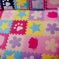 Baby multi-function mat Eva splicing foam carpet/outdoor picnic mat/beach mat/children's educational toys (1 / package 9 pieces)