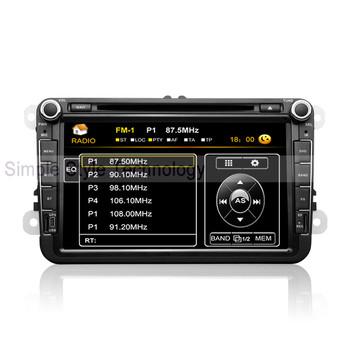 VW Tiguan Car DVD Player, built-in GPS Navigation,2 din 8 inch car DVD.Free shipping