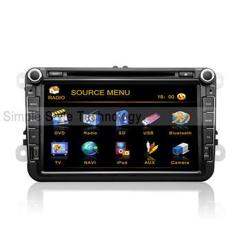 VW Caddy Car DVD Player, built-in GPS Navigation,2 din 8 inch car DVD.Free shipping
