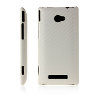 CARBON FIBRE DESIGN PROTECTIVE LEATHER BACK CASE FOR HTC WINDOWS PHONE 8X  FREE SHIPPING