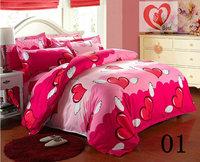 BIG Promotion !!  Microfiber Print Bed Sheets 4pcs Bedding Set duvet cover set bedding Free Shipping