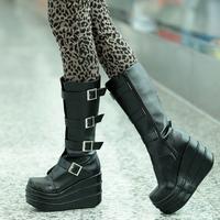 platform ruslana korshunova cosplay boots long hasp women's boots shoes