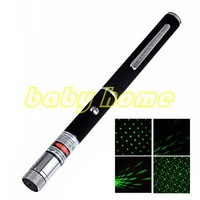 2 in 1 5mw green laser pointer Green Laser pen with star head / laser kaleidoscope light + free shipping