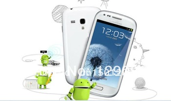 "i8190  S3 mini 9300 Android 4.0 phones mtk6515 1.0GHz 4.0"" capacitive screen Full 1:1 SG post free shipping"