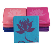 Pvc6mm folding yoga mat lotus series handbag - 5