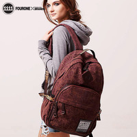 2013 bag fourone canvas backpack school bag computer cup bags