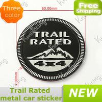Car Logo 4x4For Nameplate Trail Emblem Sticker 3D Metal Aluminum Badge Decal Black/Red/Grey Fit Grand Cherokee,Wrangler,Liberty