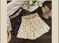 Free shipping 2013 newest fashion Pleated Floral Chiffon Women Ladies Cute Mini short Skirt Belt ,1 pce wholesale,N-55#