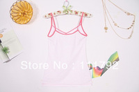 Free shipping Summer fashion women sexy V-neck printed camisole trade dot sling back shirt 100% in-kind shooting