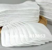 Free shipping(50pcs/lot)baby cloth diaper hemp insert  3layers of microfiber