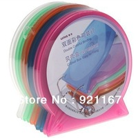 Freeshipping,CD/DVD/BD Storage Cases, 12mm Colorful Double Case for CD/DVD/BD  Media Discs Storage