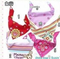 10 pcs/lot triangle Baby scarf  cotton bib Infant saliva towels boy & girl  cotton  size:45*40*40cm