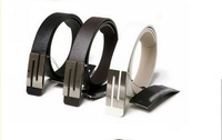 Free Shipping, 2013 New Fashion Design Men's Belt, PU & Cowskin Strap With Metal Buckle, 3 Colors, Drop Shipping#hm703