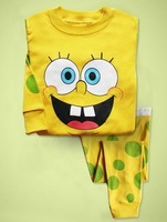 2013 New Style SpongeBob children Baby Pajamas Set Baby Pyjamas,  Children Sleepwear 6sets/lot (1design x 6 sizes)#6.13