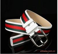 Free Shipping, 2013 New Design Men's Belt ,Unisex Classic Fashion Durable Canvas Stripe Belts, Drop Shipping#hm706