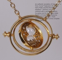 wholesale/Retail Harry Porter time converter 18K gold necklace Horcrux Time-Turner jewelry bijoux Necklace freeshipping