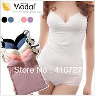 Free shipping 2013 spring and summer one-piece lingerie Modal No-wire Bra Vest