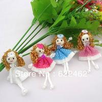 20pcs Cute Pattern dress girl small doll craft/appliques DIY handicraft U pick
