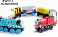 Thomas small toy set wood magnetic thomas train track child puzzle toy car Free shipping 10pcs/lot