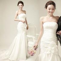 Aesthetic dream mermaid fish tail wedding dress train wedding dress bride 2014 wedding formal dress 519