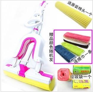 Multifunctional waste-absorbing mop butterfly type sponge pva mop the brasen water mop colloxylin