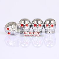 Free shipping!(4PCS)metal Tire Valve Stem Caps easy DIY decoration,Car Logo emblem   Tire Valve Caps for skull,VC309
