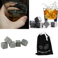 hotsale 18pcs(2 sets) Whisky stones with velvet bag,whisky rocks,beer,whiskey ice,wine stone,Liquor,Spirit Stones,Free shipping