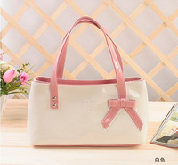 Jelly bags 2013 japanned leather candy color women's handbag summer small bag one shoulder bow handbag