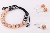 New Arrival Shamballa Set Shamballa Crystal Jewelry Set Fashion Crystal Wedding Jewelry uukp kdbo
