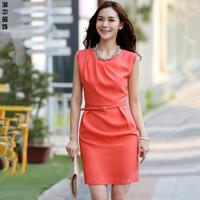 2013 summer slim sleeveless one-piece dress