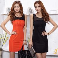 Spring 2013ol all-match formal plus size one-piece dress fashion sleeveless one-piece dress women's