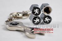 Free shipping!(4PCS)metal Tire Valve Stem Caps easy DIY decoration,Car Logo emblem   Tire Valve Caps for PEUGEOT,VC208