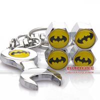 Free shipping!(4PCS)metal Tire Valve Stem Caps easy DIY decoration,Car Logo emblem   Tire Valve Caps for batman,VC243