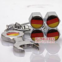 Free shipping!(4PCS)metal Tire Valve Stem Caps easy  decoration,Car Logo emblem   Tire Valve Caps for German flag,VC254
