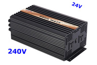 3000W Inverter Pure Sine Wave 24VDC 240VAC solar wind car battery power   free shipping