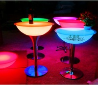 ktv bar supplies colorful led remote control luminous table lamp flashing bar counter furniture