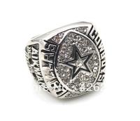 Men ring,Free Shipping fashion rhodium plated Dallas Cowboys 1992  Super Bowl World Championship Ring size 10.5