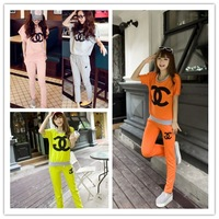 2013 summer plus size sports set female loose sweatshirt trousers female casual sportswear Women fashion brand sports suit