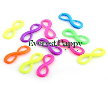 200pcs Mixed colors Digital 8 Infinity Sign Charm Jewelry Connectors Pendants 8*23mm one direction parts free shipping