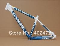 CUBE LTD PRO ultra-light Aluminum alloy Mountain bike frame/bicycle frame/mtb bike frame 26*16/18 inch 1500g white with blue