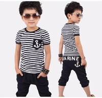 Free shipping summer wear the new children's clothing han edition children suit